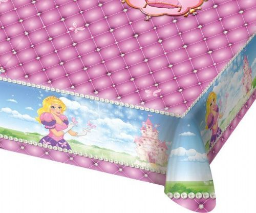 Princess Party Tablecover 130 x 180cm Beautiful Story Book Royal Regal Hero